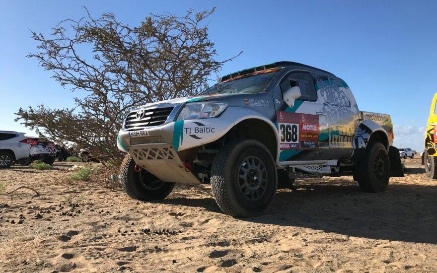 Gintas Petrus ir Tomas Jančys 2020-ųjų Dakaro ralyje
