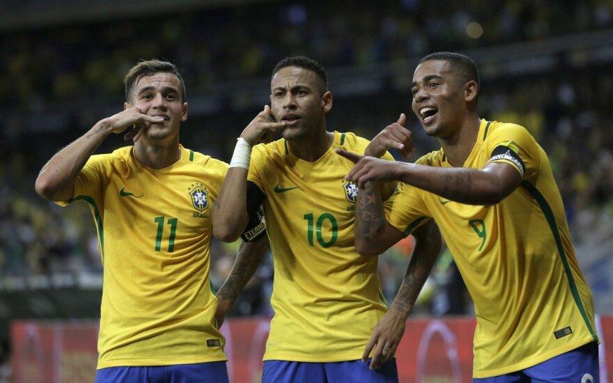 Futbolo gigantai stoja į kovą pasaulio čempionate: kas lemia Brazilijos galią?