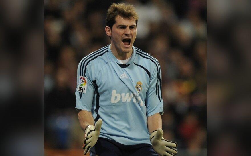 """I.Casillasas pakartojo Madrido """"Real"""" klubo rekordą"""