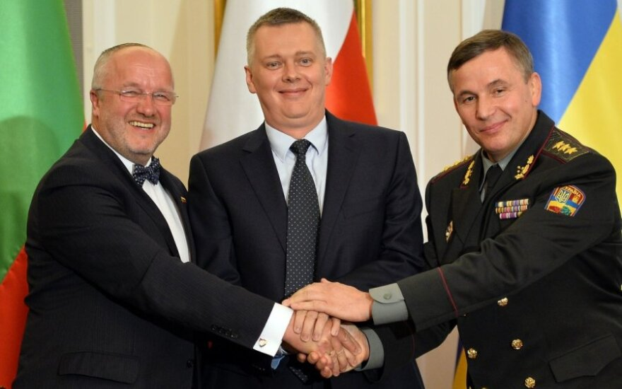 Lithuanian, Polish and Ukrainian defence ministers