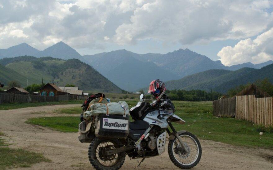 Motociklais aplink Baikalą