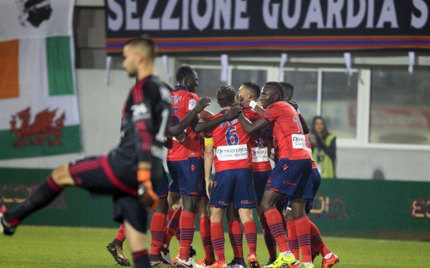 """""""Ajaccio"""" futbolininkų džiaugsmas"""