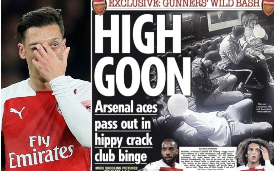 """Mesutas Ozilas, """"Arsenal"""" vakarėlis"""