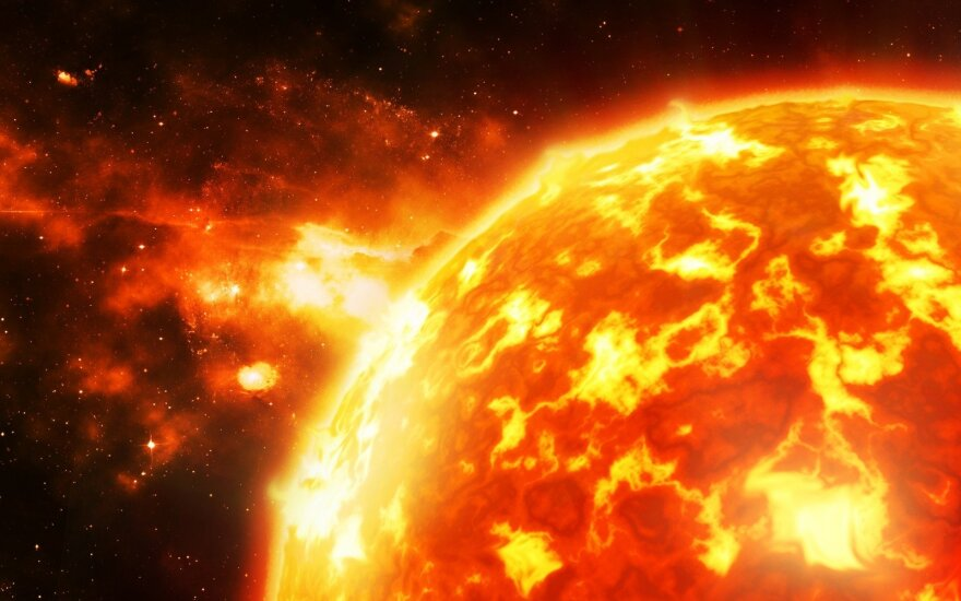 Užfiksuotas rekordinio stiprumo Saulės magnetinis laukas