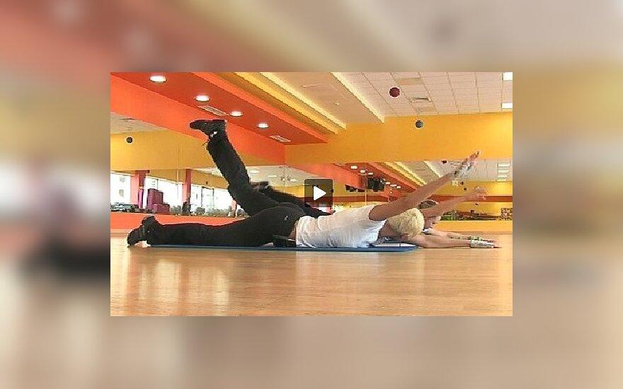 Pratimas nugaros raumenims lavinti