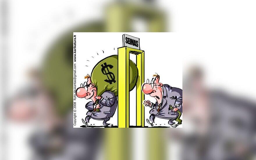 """Milijonines partijų skolas """"užgydys"""" biudžeto pinigai?"""