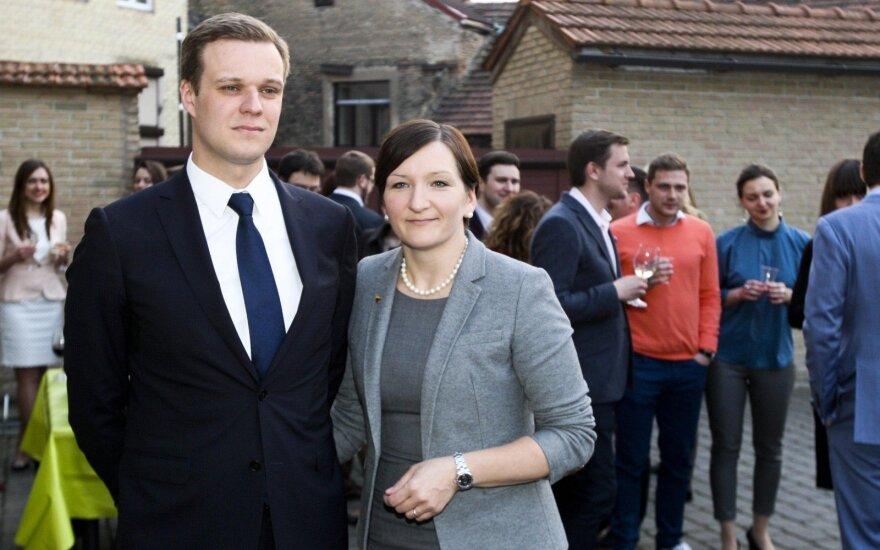Gabrielius Landsbergis su žmona