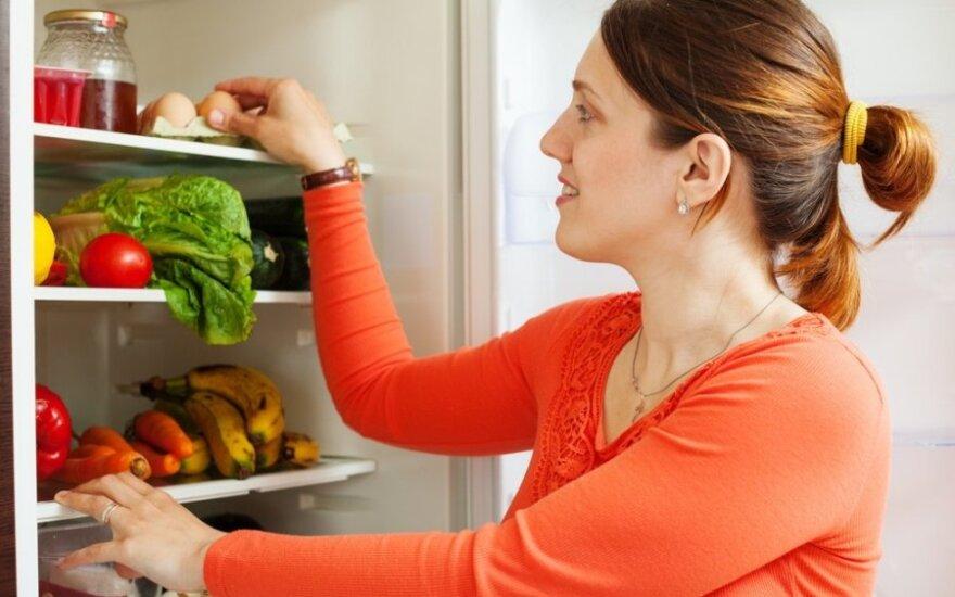 Kaip teisingai laikyti produktus šaldytuve?