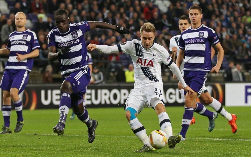 """Europos lygoje """"Tottenham"""" klubas pralaimėjo Belgijoje, """"Liverpool"""" - sužaidė taikiai namie"""