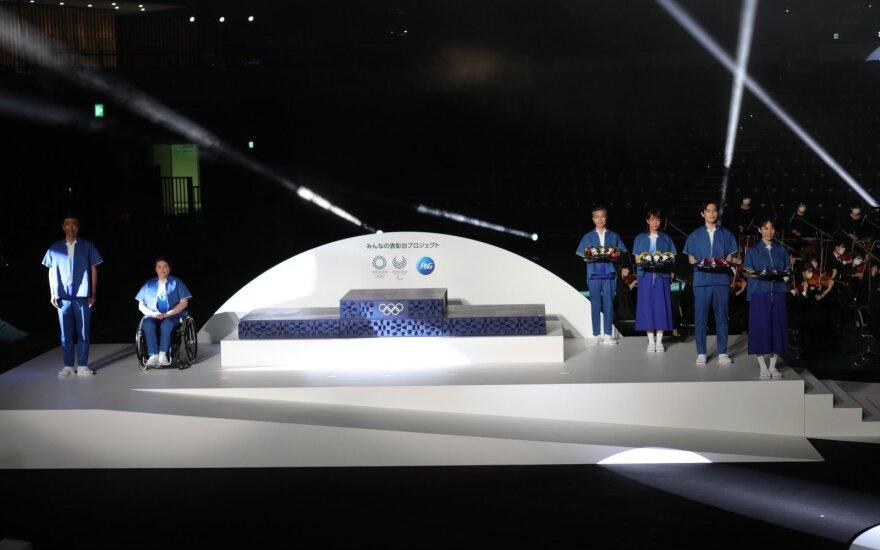 Pristatyti Tokijo olimpinių žaidynių apdovanojimų ceremonijos elementai