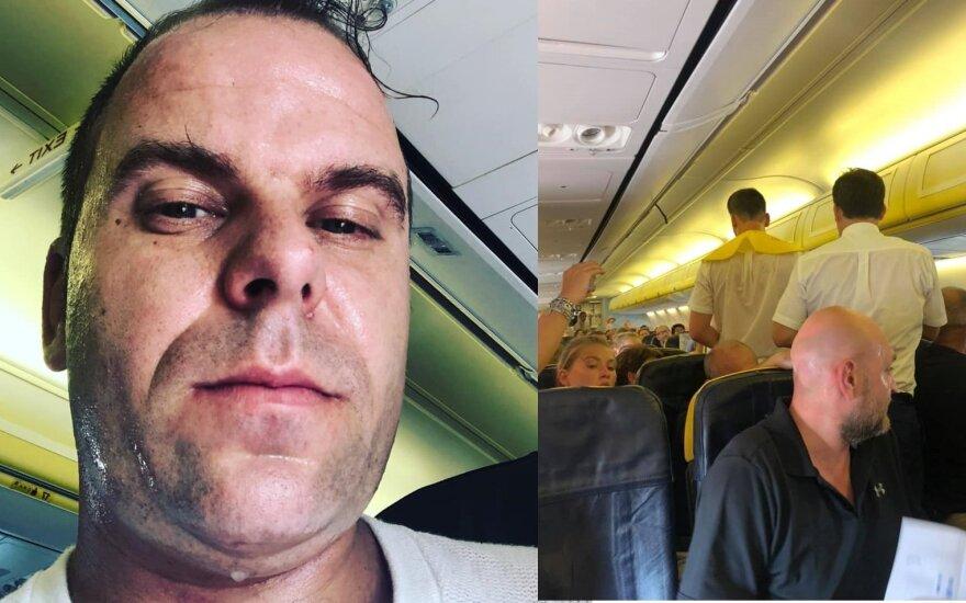 """""""Ryanair"""" lėktuve įstrigę keleiviai"""