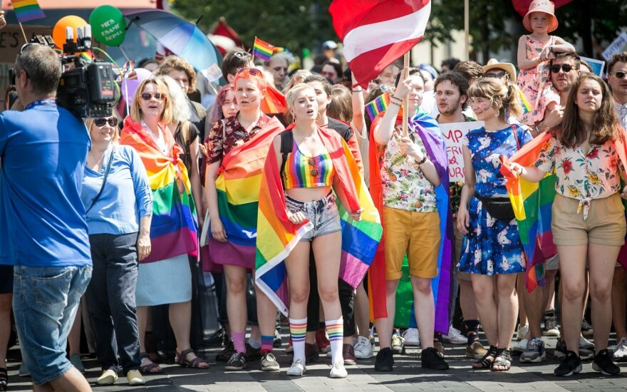 People marched in Vilnius calling for equality for LGBT community