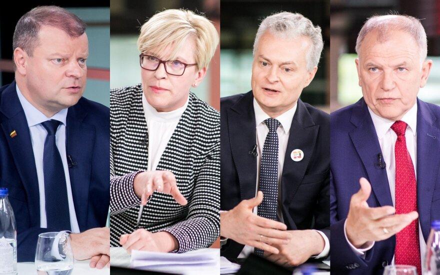 Saulius Skvernelis, Ingrida Šimonytė, Gitanas Nausėda, Vytenis Andriukaitis