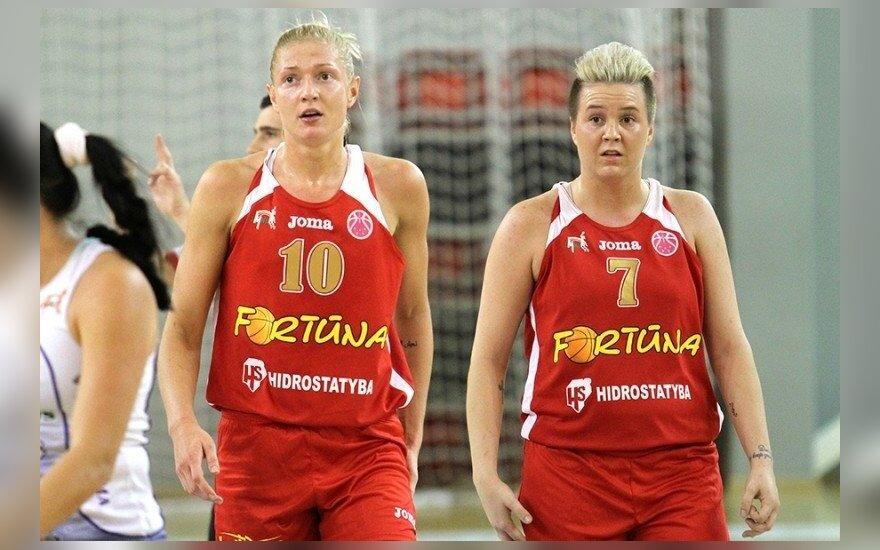 """Monika Grigalauskytė ir Marina Solopova (""""Hoptrans-Sirenų"""" klubo nuotr.)"""