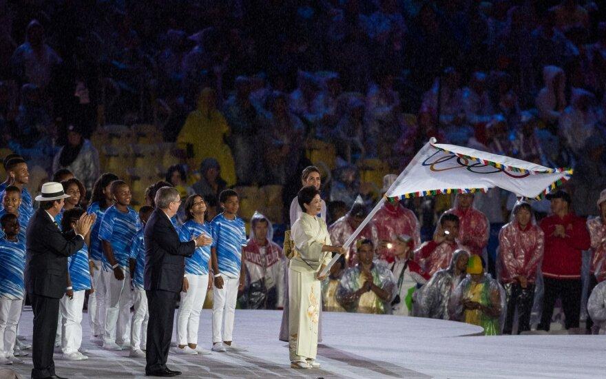 Tokijo olimpinių žaidynių.vėliava
