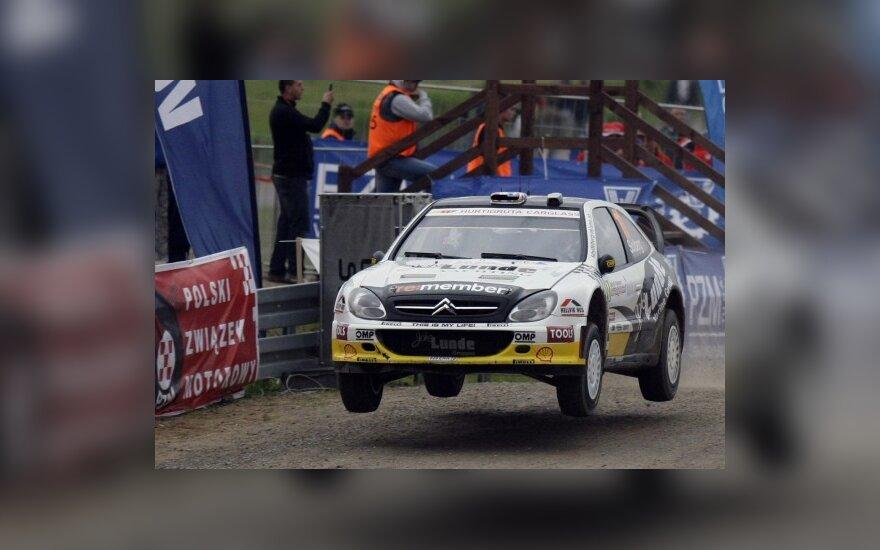 WRC: P.Solbergas išsiveržė į priekį Lenkijoje