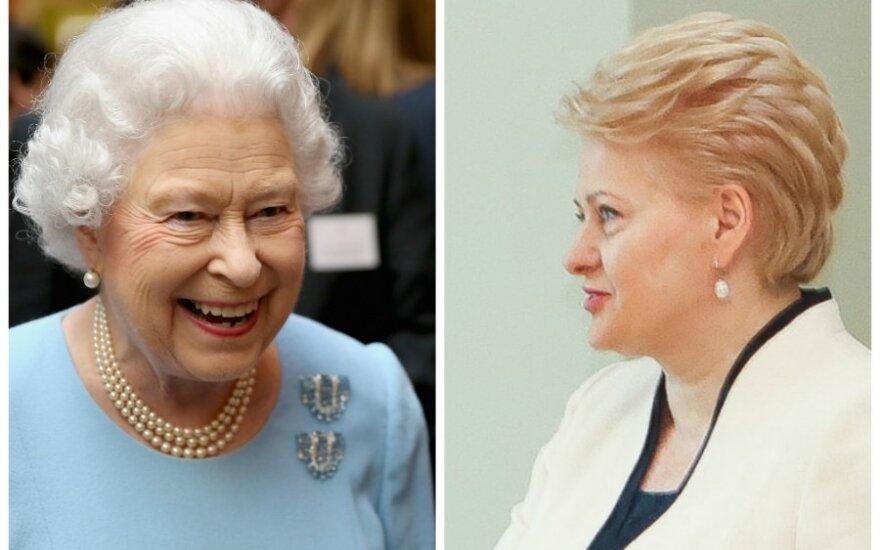 D. Grybauskaitė Anglijos karalienei linkėjo stiprybės