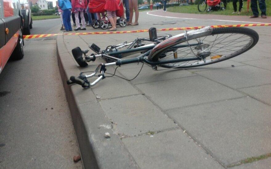 Policija ieško pabėgusio dviratininko