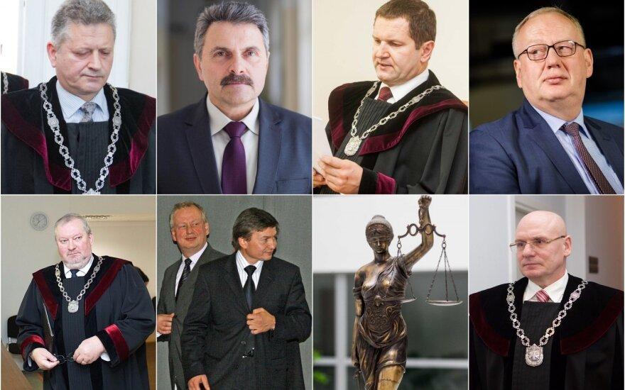 Dar neregėta korupcija teismuose: net 8 aukščiausio rango teisėjai įtariami kyšininkavimu