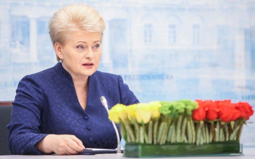 D. Grybauskaitė: verslas pats turi dėti pastangas persiorientuoti į patikimas rinkas