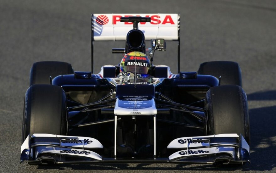 "Pastoras Maldonado su ""Williams"" automobiliu"