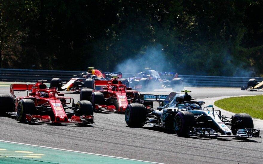 """""""Formulės-1"""" etape – lengva Hamiltono pergalė ir Botto nelaimės"""