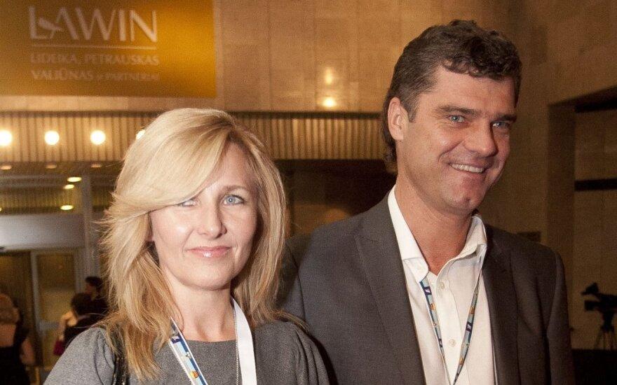 Žilvinas Šilgalis su žmona