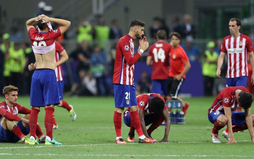 """""""Real"""" ir """"Atletico"""" klubams – draudimas registruoti naujus žaidėjus"""