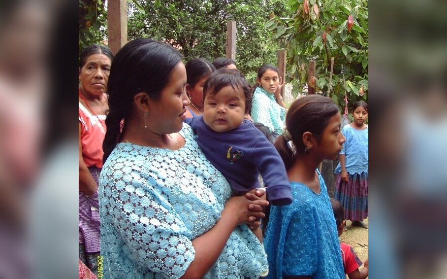 Gvatemala. Majų kekči moterų kasdienybė