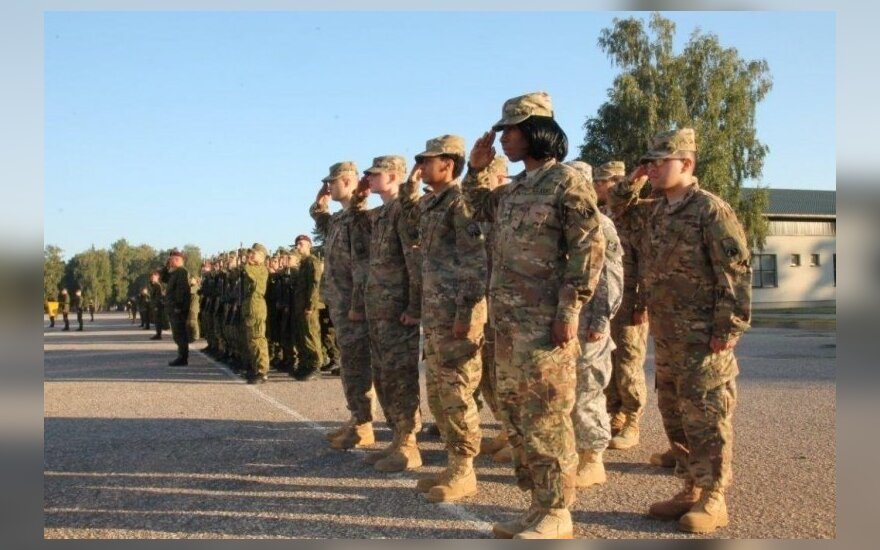 Joint Lithuanian and US formation in Lithuania commemorates 9/11 events