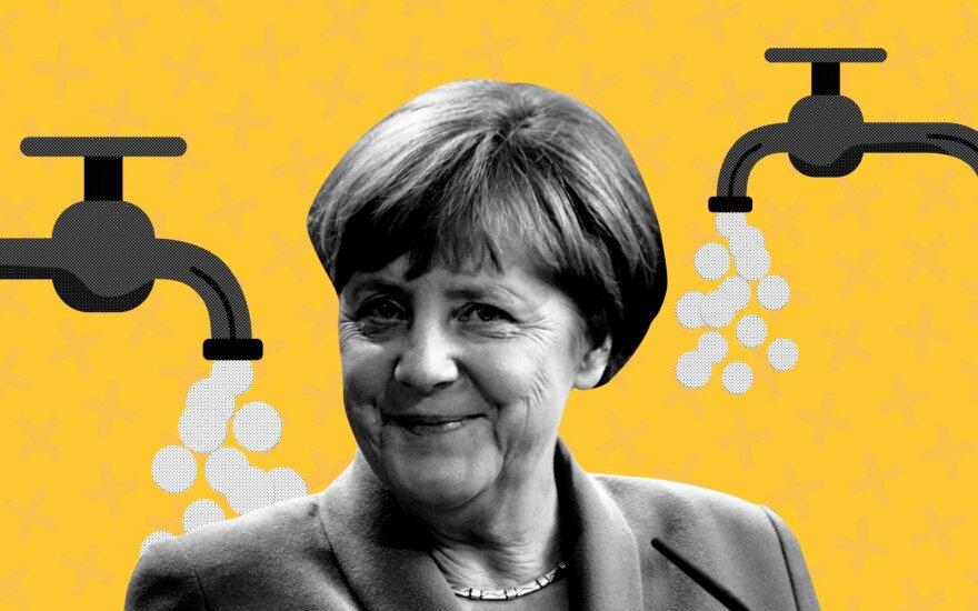 Merkel ir pinigų kranelis / Shutterstock nuotr.