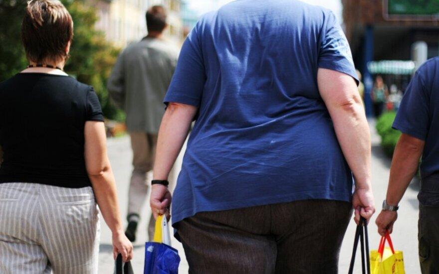 Didžiojoje Britanijoje praktiškai kas ketvirta moteris yra nutukusi