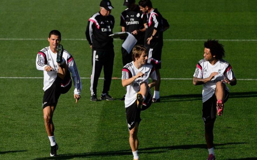 """Madrido """"Real"""" komandos treniruotė"""
