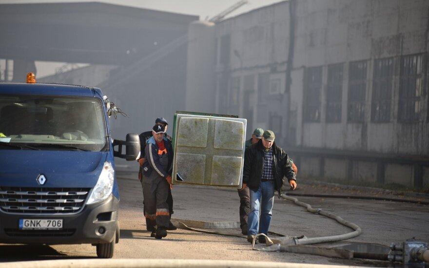 Įvertino gaisro Alytuje likvidavimo darbus: gesinimas negalėjo būti greitesnis