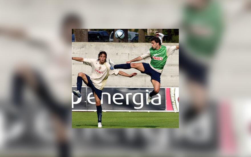 Portugalijos futbolininkai rengiasi rungtynėms su lietuviais