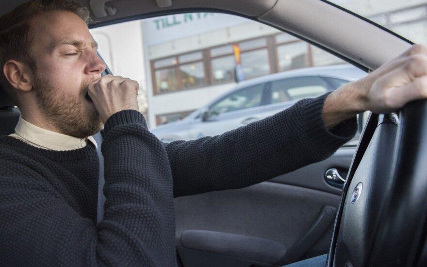 Mieguistas vairuotojas