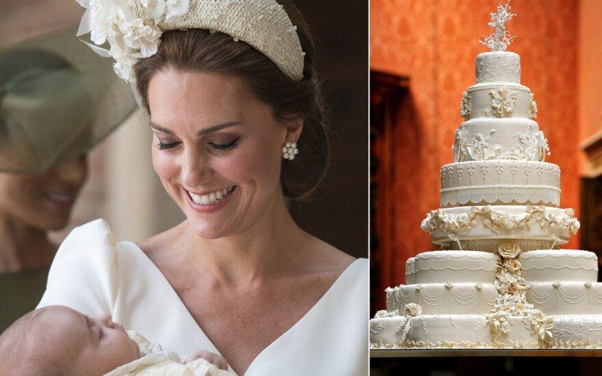 Princo Louiso krikštynos ir Williamo bei Kate vestuvių tortas
