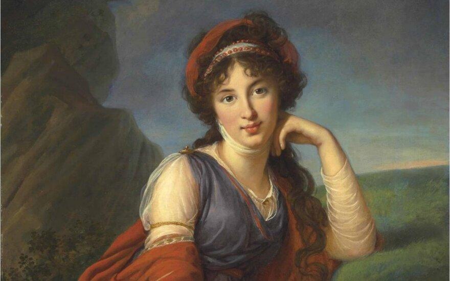 Marija Golycina, prancūzų dailininkės Elisabeth Vigee Le Brun portretas