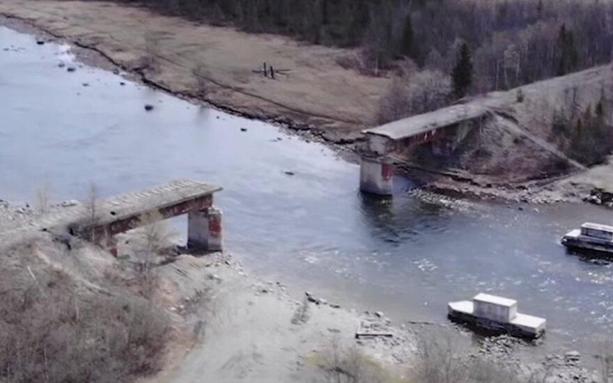 Rusijoje pavogtas 56 tonas sveriantis tiltas