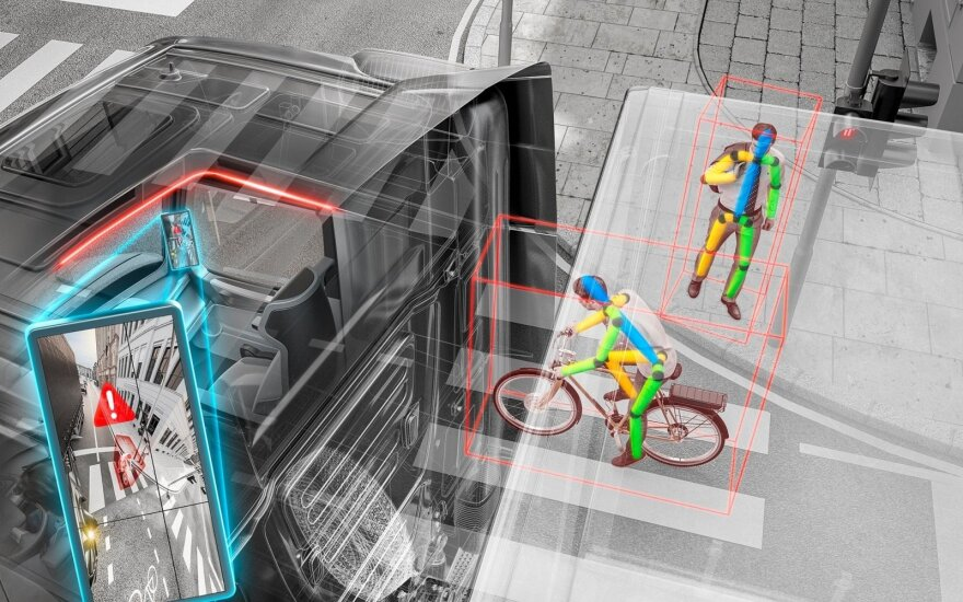 """""""Continental"""" sukurta perspėjimo apie pėsčiuosius ir dviratininkus saugumo sistema"""