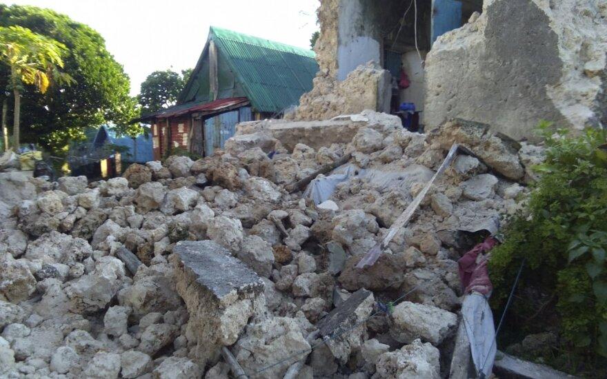 Filipinuose per virtinę žemės drebėjimų žuvo 8 žmonės