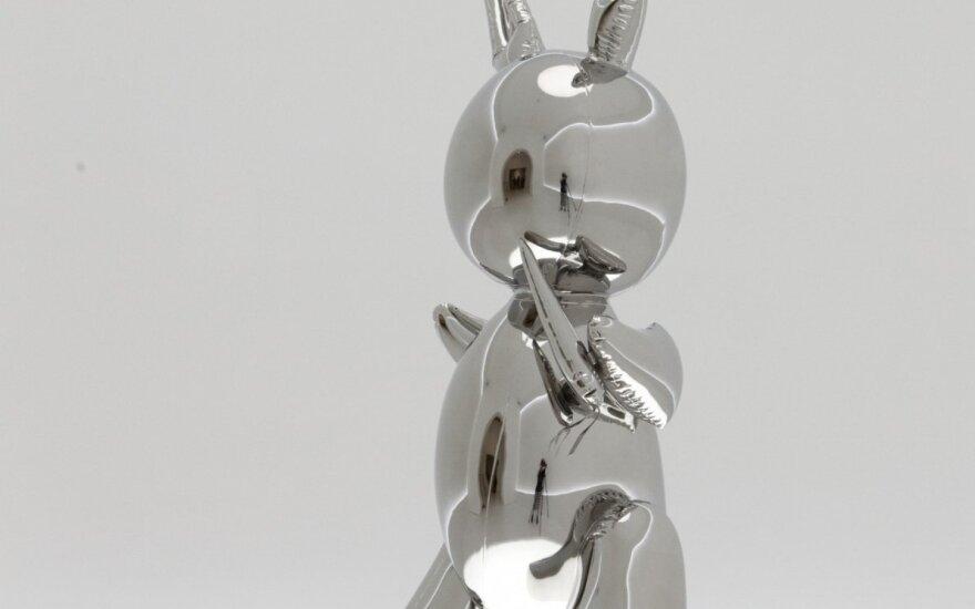 Jeffo Koonso skulptūra aukcione parduota už rekordinius 91,1 mln. dolerių