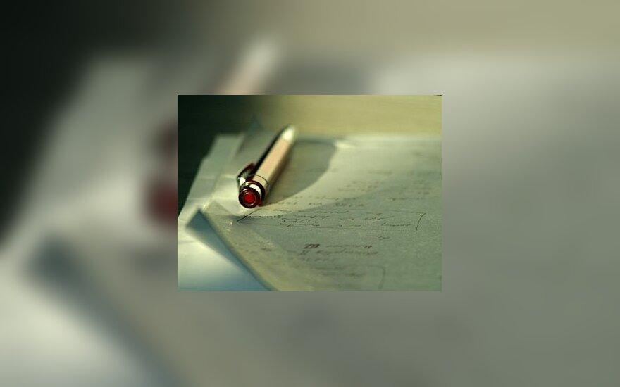 Dokumentai, parašas, verslas