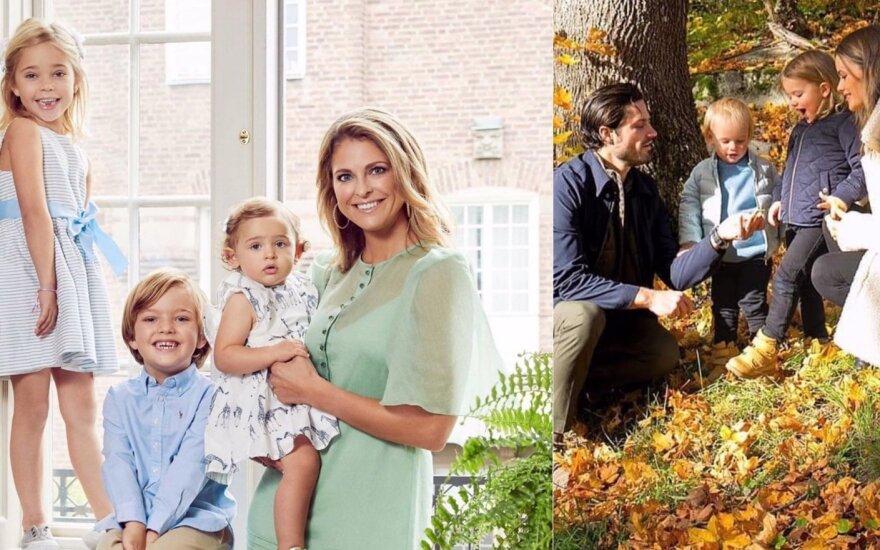 Princesė Madeleine ir princas Carlas Philipas su vaikais