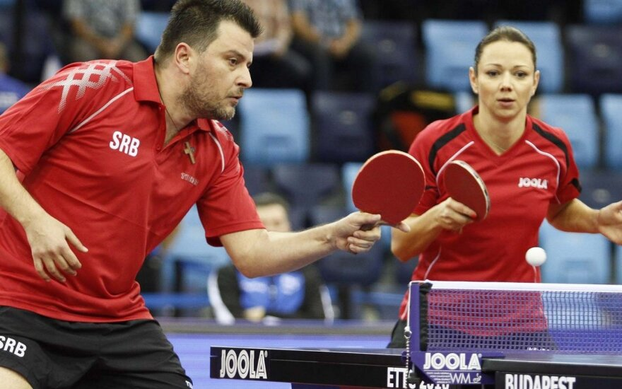 Rūta Paškauskienė ir Aleksandaras Karakaševičius (Foto: Richard Kalocsai/ittf.com)