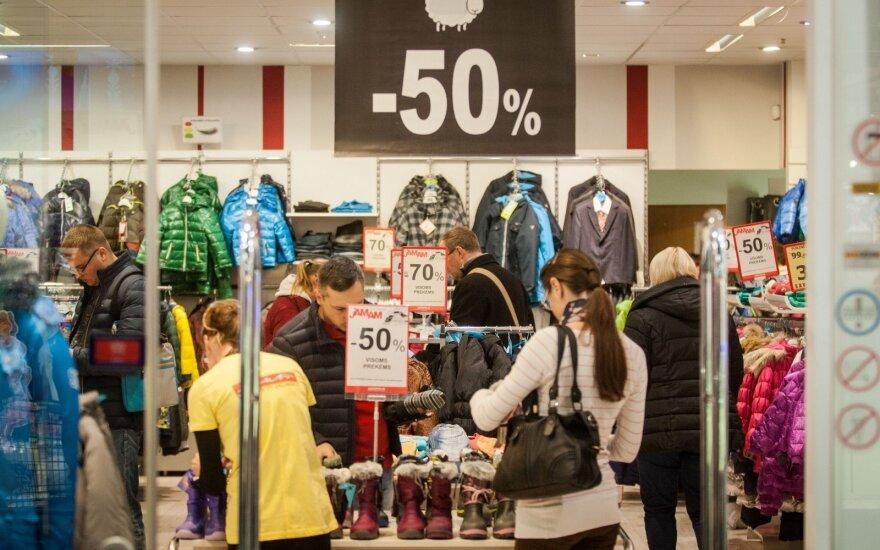 Drabužių kainos Lietuvoje didesnės nei Europoje