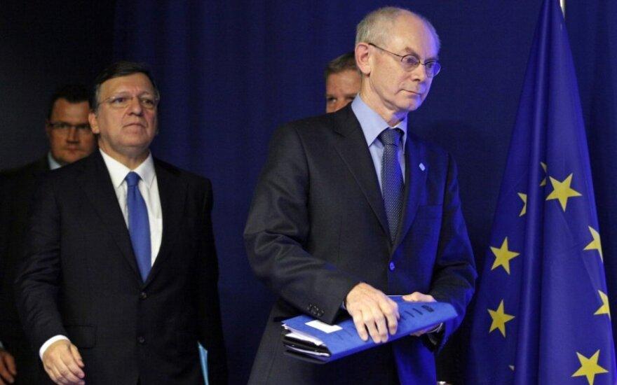 Jose Manuelis Barroso ir Hermanas Van Rompuy