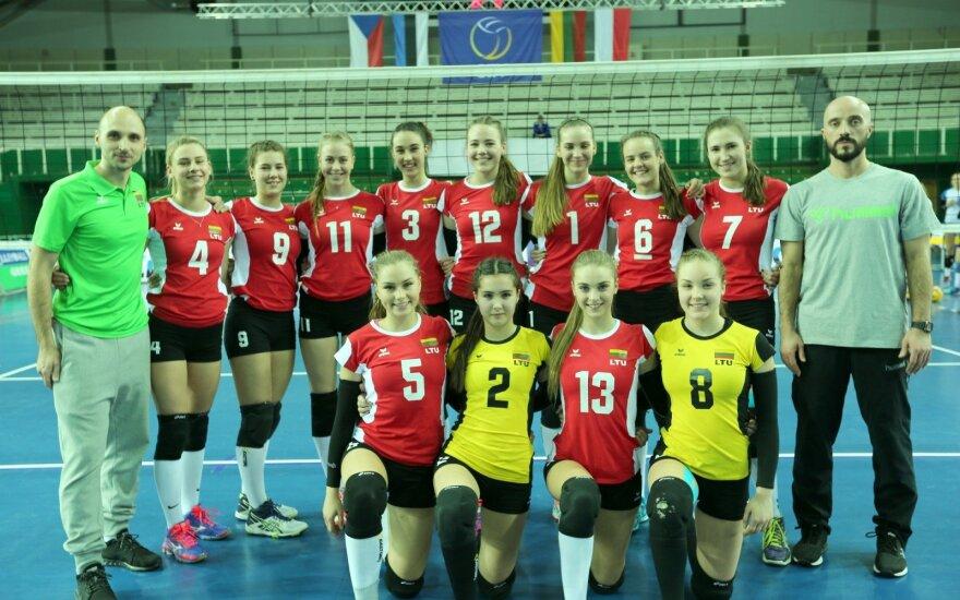 Lietuvos jaunių (U18) merginų tinklinio rinktinė (G. Žalelės nuotr.)
