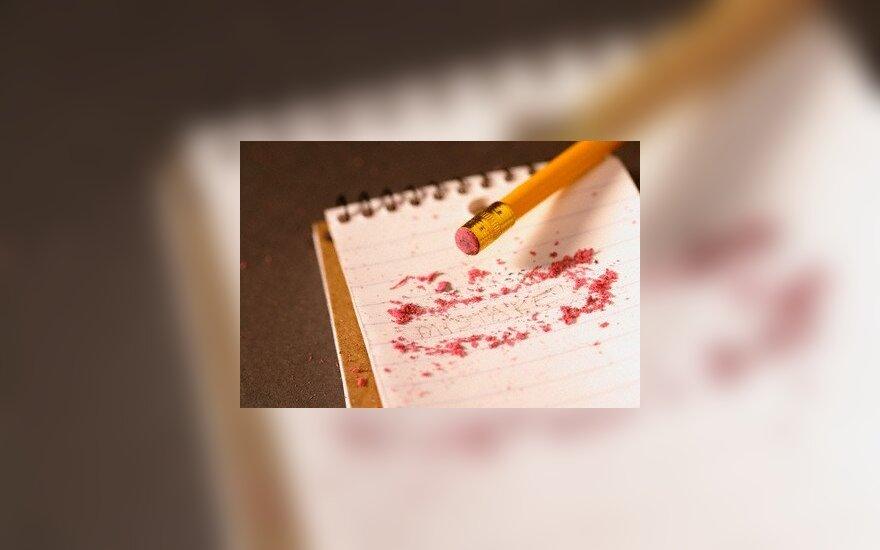 trintukas, pieštukas, ištrynimas, likvidavimas