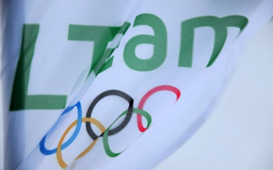LTeam olimpinio žiemos festivalio vėliava